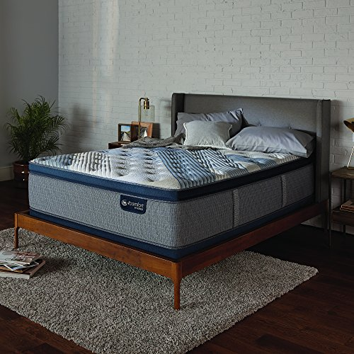 Serta Icomfort Icomfort Hybrid 14' Blue Fusion 1000 Luxury Firm Pillow Top Bed Mattress Conventional, Queen, Gray