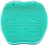 XDgrace Shower Foot Massager Scrubber with Non-Slip Suction Cups, Feet Cleaner Bath Massage Mat Improves Circulation-Turquoise