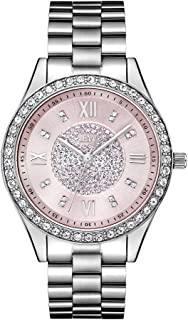 JBW Luxury Women's Mondrian 16 Diamonds & Swarovski Crystal Encrusted Bezel Watch