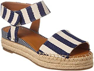 Franco Sarto Women's Oak Sandal, Stripe Fabric, 9.5 M Blue