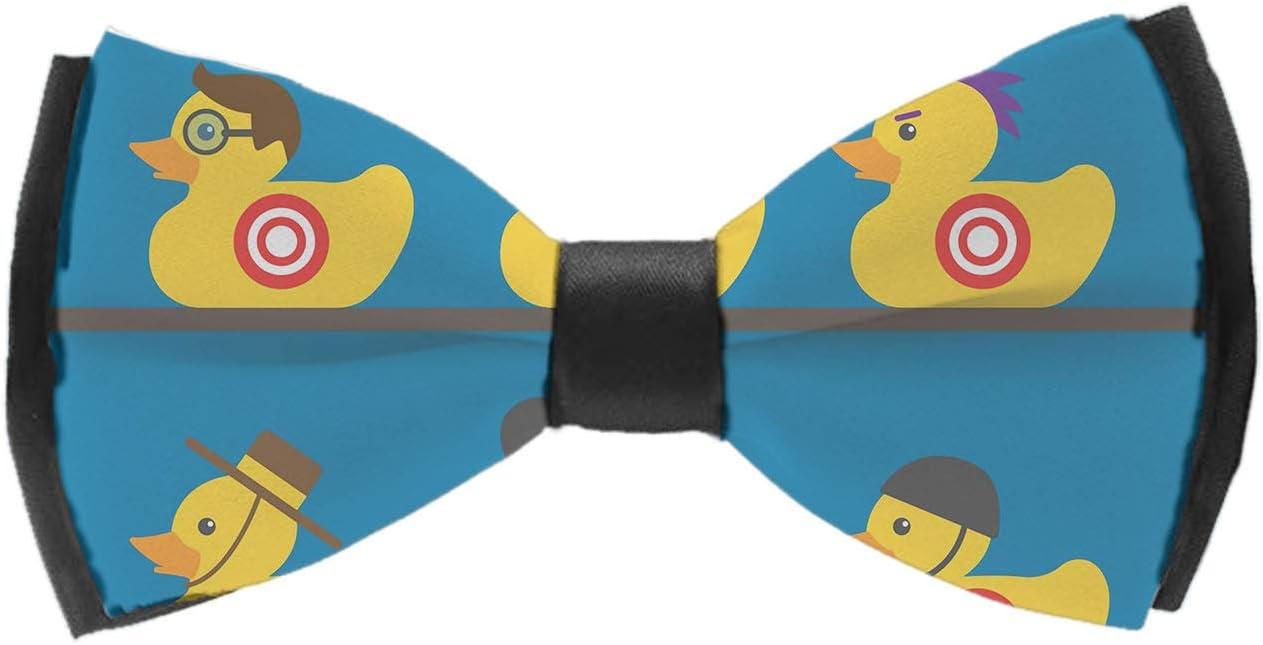 INWANZI Men's Classic Pre-Tied Adjustable Length Bowtie, Party Bow Tie - Rubber Yellow Duck Art