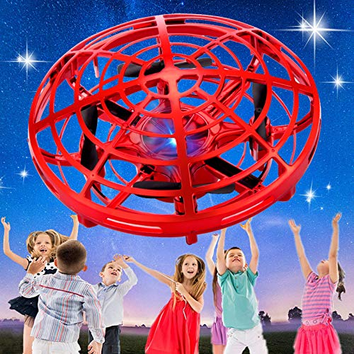 SHWD Hand Operated Drones for Kids, Mini Drone UFO Kids Drone with Led Lights, Levitation Drones Flying Ball Drone Toy 360 Rotating Helicopter for Boys Girls Adult Indoor Outdoor
