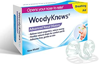 Sleep Aid Nose Vents by WoodyKnows – Super Support Nasal Dilators for Instant Snoring Relief, Replace Nasal Strips to Breathe Better and Right, Deep Sleeping Without Snore (Multi-Size Pack)