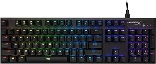 HyperX Alloy FPS RGB ゲーミングキーボード Kailh Silver ゲーマー向け USB充電ポート LEDバックライト 2年保証 HX-KB1SS2-US 104キーフルサイズ