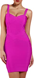 Women's Rayon Cute Mini Sleeveless Bodycon Club Party Bandage Strap Dress
