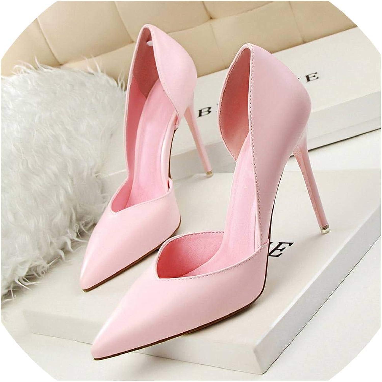 Fan-Shu New Women Pumps Fashion High Heels shoes Women shoes Women Bridal Wedding shoes