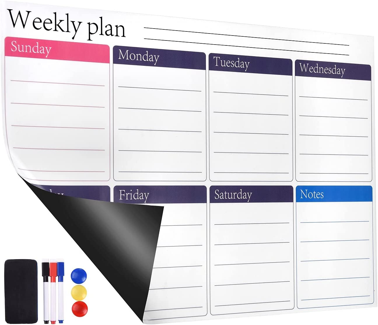 Olodeer Dry Erase Planner Calendar Refrigerato Limited Special Price for Sale with Magnetic