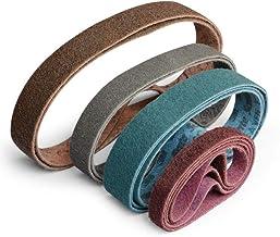 UIEMMY Sandpapper 1 st i lager icke-vävt sandbälte slipande nylon rostfritt stål polering slipbälte, 240, röd, 50 x 2100 mm