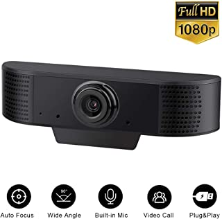 Aguoxing 1080P Webcam with Microphones Full HD for PC Computer Desktop Laptop Mac USB2.0 Web Camera for Streaming Video Calling Recording Conferencing