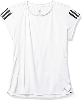 adidas Originals Club 3 Str Tee, White/Matte Silver/Black, Small