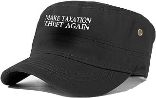 Make Taxation Theft Again Hat Adult Men Women Flat Roof Hat Adjustable Greek Fisherman Cap Cotton