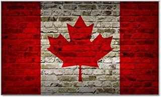 Canada Flag Brick Wall Design Rectangular Magnet - Great for Indoors or Outdoors on Vehicles