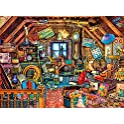 Buffalo Games 1000-Pieces Aimee Stewart Grandma's Attic Jigsaw Puzzle with Hidden Images