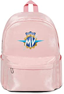 Women's Men Travel Laptop Backpacks MV-Agusta-Logo- Lightweight School College Bookbags