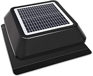 HQST Solar Powered Roof Mount Adjustable Attic Fan with 15W Solar Panel