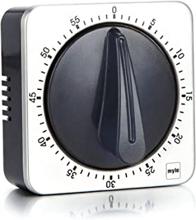 otutun Minuteur Mécanique, 60 Minutes Minuterie de Cuisine Alarme Rotative Mécanique Acier Inoxydable Compte à Rebours Méc...