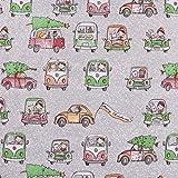 Lillestoff Bio Baumwollstoff Weihnachtsmööpmööp Autos
