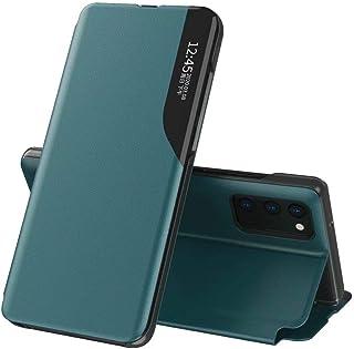 FTRONGRT Estuche para Huawei Y7a Funda, Concha magnética, Piel + PC, Ventana Transparente, con Soporte, Apta para Funda Pr...