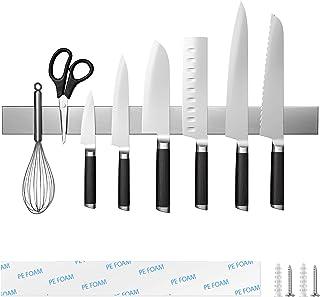 Fohil 45cm Porte Couteaux Aimanté Porte-Couteau MagnéTique en Acier Inoxydable très Forte Tenue et Assemblage Facile pour ...