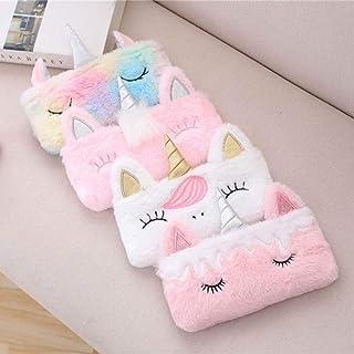 KITTYKIT Women Girls Kids Unicorn Character Hand Purse Wallet Unicorn Bag Soft Fur Pouch Set of 4