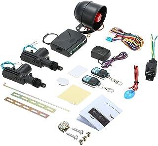 KKmoon パッシブキーレス エントリーカーアラームシステム 2ドア遠隔リモートセンシングロッキングキット ショックセンサー付き