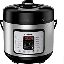 COSORI C2126-PC Cook & Carry Digital Slow Cooker with Heat-Saver Stoneware, 6Quart, Silver