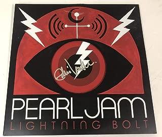 EDDIE VEDDER PEARL JAM SIGNED LIGHTNING BOLT ALBUM VINYL PROOF AUTO BECKETT LOA