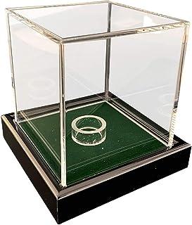 Universal acrílico Vitrina 10 x 10 x 10 cm / Showcase / Display Case / Vitrina con Terciopelo verdes por ejemplo para Pelota de Tenis, Béisbol, Pelota de Golf, Figuras, Modelos
