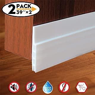 Door Draft Stopper,Door Sweep for Exterior/Interior Doors, Door Seal Strip Under Door Draft Blocker Seal, Soundproof Door Bottom Weather Stripping Weatherproof, 2