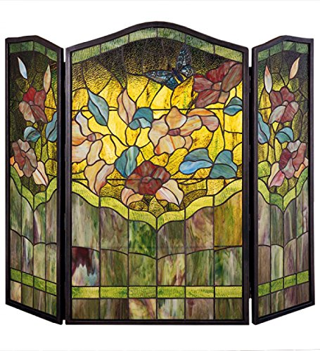 Affordable 40 W X 34 H Butterfly Fireplace Screen Dry