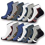 6 oder 12 Paar SPORT Sneaker Socken Herren Damen Sportsocken Frotteesohle Baumwolle 16215/20 (43-46, 12 Paar)