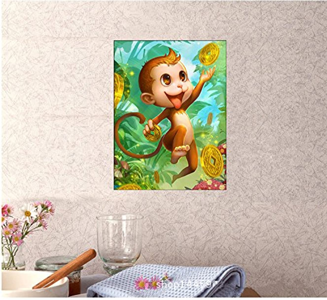 Fuming Monkey Diamond Embroidery 5D DIY Diamond Painting Cat Diamond Painting Cross Stitch Rhinestone Mosaic