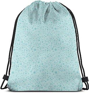Mochila de cuerda con cordón y cordón para atraer la bolsa de cordón continuo dulce patrón creativo irregular, formas de estrellas, mochila de viaje, bolsa de deporte, bolsa de gimnasio