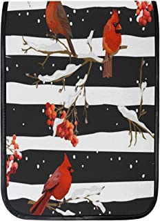 MASSIKOA iPad Pro 12.9 Inch Case, Winter Birds with Rowan Berries Smart Protective Cover, Build-in Pencil Holder for iPad ...
