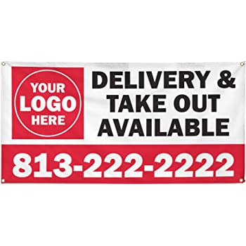 Vinyl Banner Multiple Sizes Grand Opening Outdoor Advertising Printing U Business Outdoor Weatherproof Industrial Yard Signs Golden 10 Grommets 60x144Inches