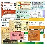 YOUKU Air Boarding Pass Billete de Tren Vintage Billete para portátil Equipaje Skateboard Sticker 55 Piezas