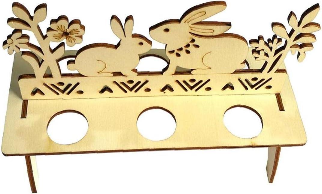 Easter Egg Holder DIY Wooden Rabbi Bunny Easy-to-use Rack Excellent Shelves