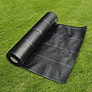 ✓HEAVY DUTY - Extremely strong and durable woven polypropylene for maximum weed prevention! ✓VERSATILE - Use under pathways, driveways, decking, plant beds, for landscaping, etc. ✓SO EASY - This weed membrane has lines for ease of use when plantin...