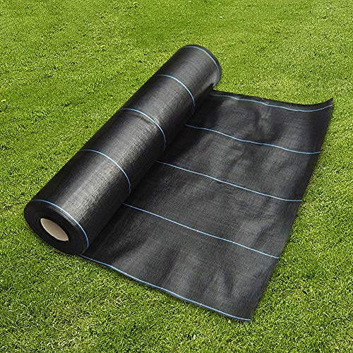 GroundMaster 1m x 10m Heavy Duty Weed Control Fabric Ground Cover M