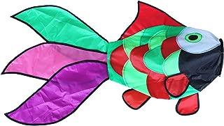 Comcrosfly 31 in Rainbow Fish Windsock Fun Airsock for Outdoor Patio Garden Decorative WindSpinners Hanging Fish
