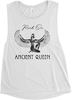 Rock on Ancient Queen Women's Concert Muscle Tank Top, Stevie Nicks Fleetwood Vintage Worn Graphics Gold Dust Woman Feminist Flowy Shirt by Blue Dove