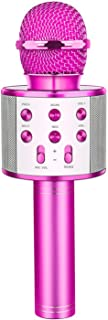 LetsGO toyz Bezprzewodowy mikrofon Bluetooth do karaoke do systemu Android/iPhone/iPad/Sony/PC – prezent dla nastolatków, ...