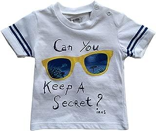 IKKS Baby Boy Big Sunglass Tee Shirt White