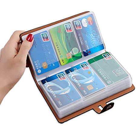 Leather 40 Card Commercial Name ID Credit Card Book Case Holder Organizer JQ