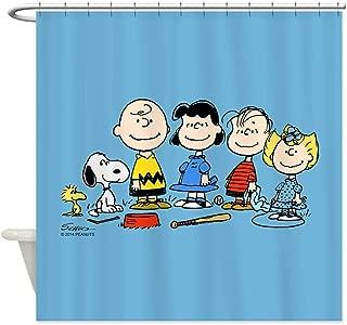 ghknjjkg The Peanuts Gang - Decorative Fabric Shower Curtain (60