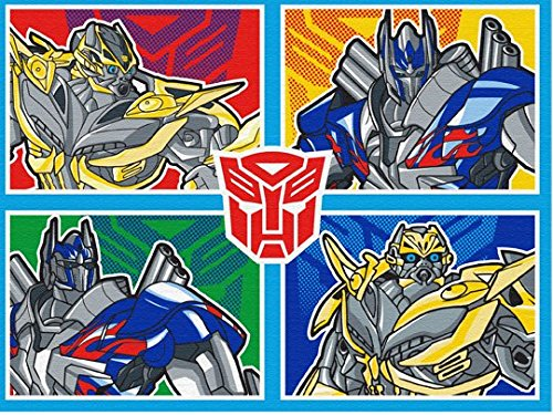 Hasbro Transformers Rug Optimus Prime, Bumblebee XFMR 4 Bedding Wall Decals Blue Area Rugs, 40'x54' inch
