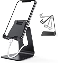 ORIbox Cell Phone Stand, Adjustable Phone Stand for Desk, Aluminum Desktop Solid Universal Desk Stand, Compatible with iPhone 12/11 Pro Max XS Max XR X 8 7 6S Plus SE 2020 12 Mini,Samsung Galaxy