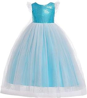 Vestido de princesa de las niñas La princesa del verano de la falda de las lentejuelas del vuelo de las mangas Los niños m...