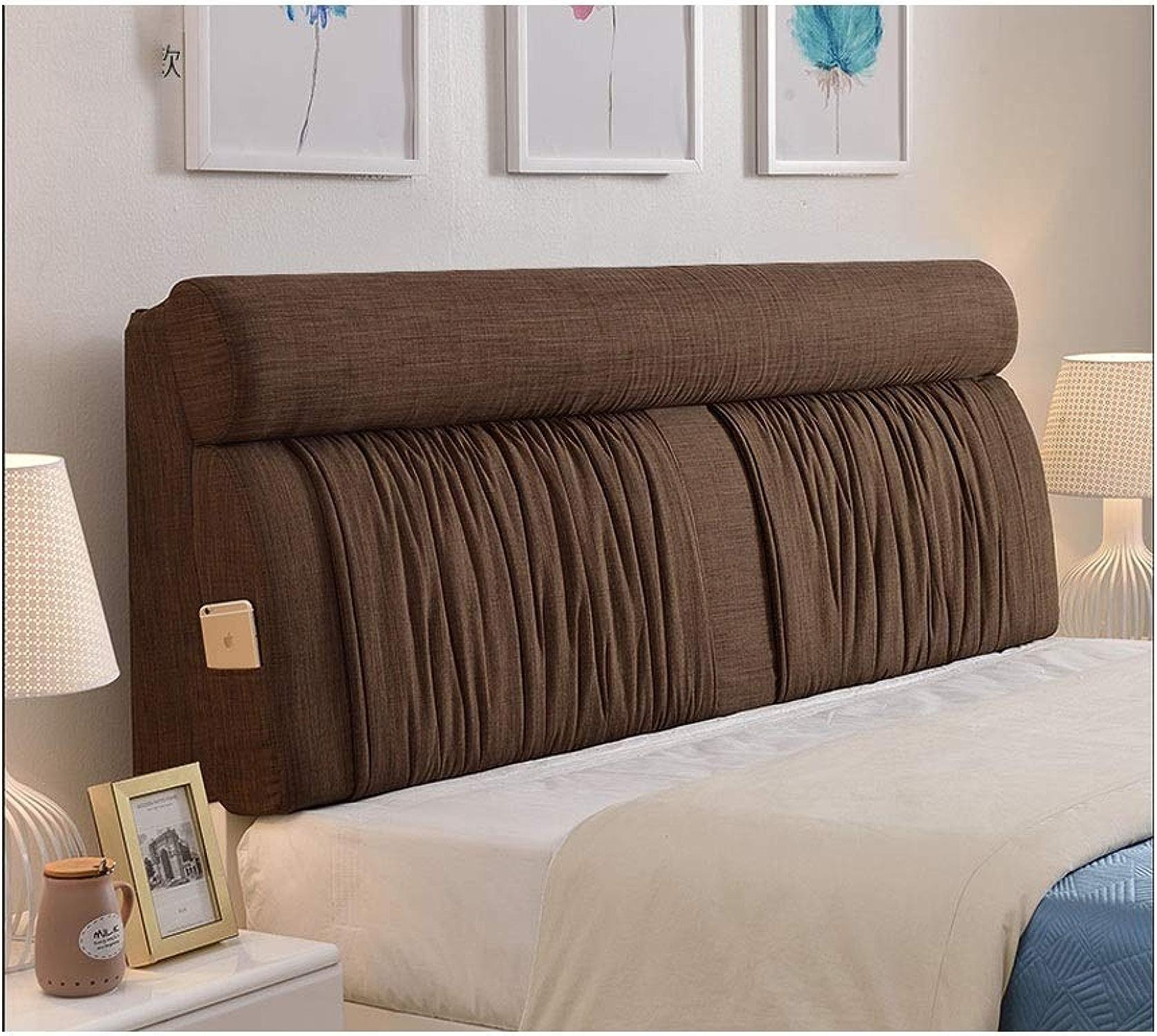 TAO Tête de lit européen Double grand coussin dorsal doux sans coussin de tête de lit Couvre-lit en tissu pour oreiller amovible et lavable (Couleur   D, taille   185  60cm)