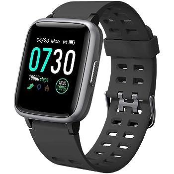 Willful Smartwatch Impermeable Reloj Inteligente con Pulsómetro, Pulsera Inteligente para Deporte con Cronómetro, Podómetro. Smartwatch Hombre Mujer para Android iOS Xiaomi Huawei iPhone(Negro): Amazon.es: Deportes y aire libre